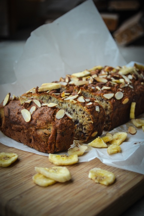 Vegan Almond Banana Loaf-21