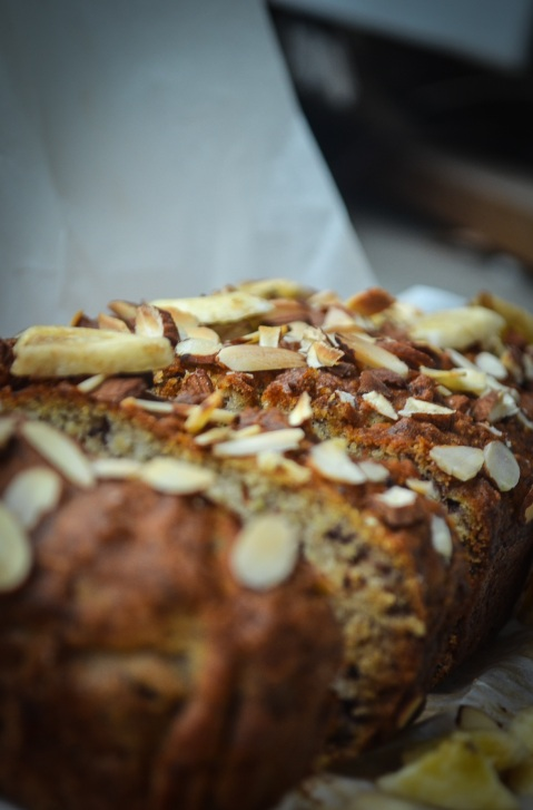 Vegan Almond Banana Loaf-24