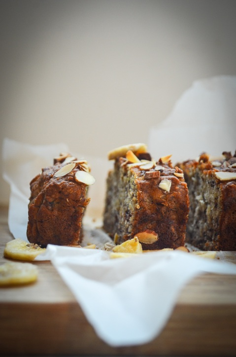 Vegan Almond Banana Loaf-37