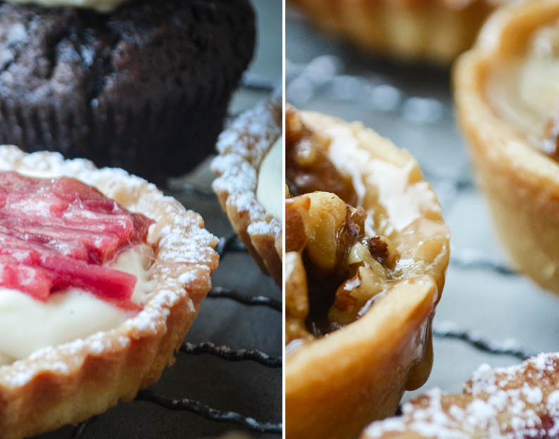 Sweet Tarts_Rhubarb_Vanilla Bean_Chocolate_Walnut_Caramel_Sticky Pear ...
