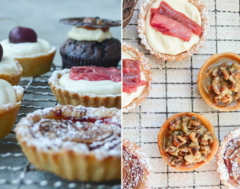 Vanilla Bean Cheesecake Tartlets With Roasted Rhubarb Recipe ...