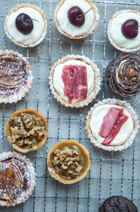 Walnut_Rhubarb_Cherry_Tarts