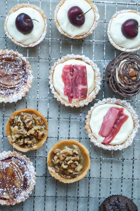Walnut_Rhubarb_Cherry_Tarts