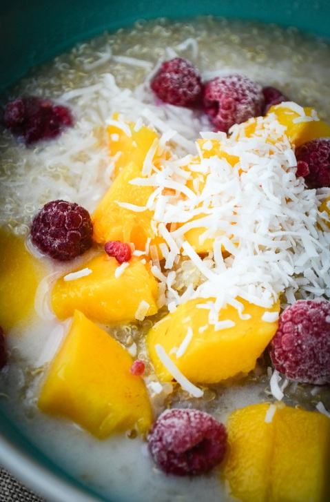 Quinoa Breakfast Bowl_Mango Coconut Raspberry Quinoa-04