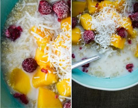 Quinoa Mango Raspberry Coconut_Breakfast Bowl